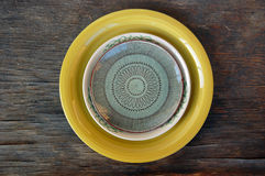 Colorful plates Royalty Free Stock Photo