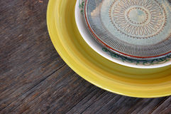 Colorful plates Royalty Free Stock Photos