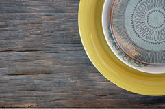 Colorful plates Stock Images