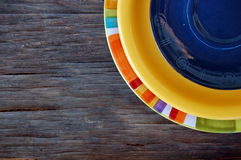 Colorful plates Royalty Free Stock Images