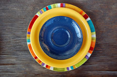 Colorful plates Stock Image