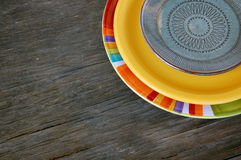 Colorful plates Stock Photography