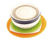 Colorful plates Royalty Free Stock Image