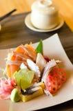 A colorful platter of sashimi sushi Royalty Free Stock Photos