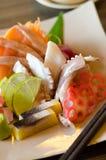 A colorful platter of sashimi sushi Stock Image