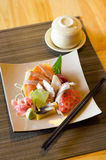 A colorful platter of sashimi sushi Royalty Free Stock Photography
