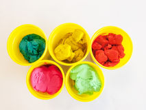 Colorful play dough Royalty Free Stock Image