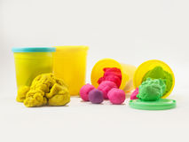 Colorful play dough Stock Images