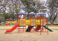 Colorful Playground. In the park Stock Image