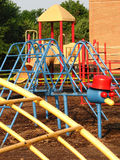 Colorful playground. Playground at an elementary school Royalty Free Stock Photo