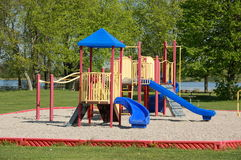 Colorful playground. Equipment.  Valens Conservation Area.  Ontario.  Canada Royalty Free Stock Photo