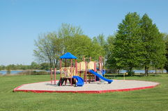 Colorful playground. Equipment.  Valens Conservation Area.  Ontario.  Canada Stock Photo