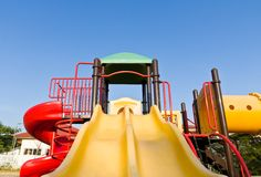 Colorful playground and blue sky Royalty Free Stock Image