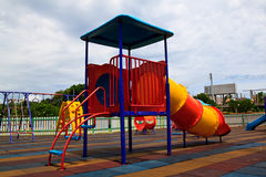 Colorful playground equipment Royalty Free Stock Images