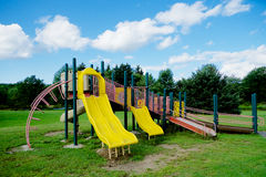 Colorful Playground Equipment Royalty Free Stock Photos