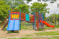 Colorful playground equipment Royalty Free Stock Photo