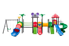Colorful playground full set on isolated white Stock Photography