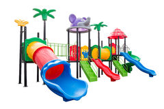 Colorful playground full set on isolated white Stock Photo
