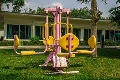 Colorful playground. In  green garden Stock Photography
