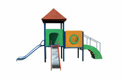 Colorful playground for kid. Isolated on white background Royalty Free Stock Photos