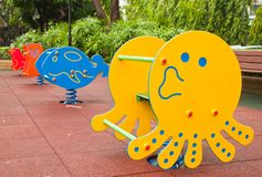 Colorful Playground in the park Royalty Free Stock Photos