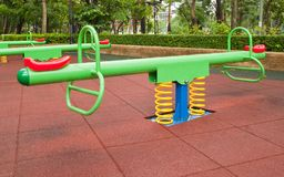 Colorful Playground in the park Royalty Free Stock Photography