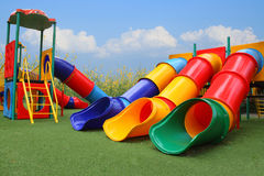 Colorful playground park is build happy children Stock Image