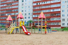 Colorful playground in sand Royalty Free Stock Photos