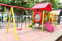 Colorful playground. In the school Royalty Free Stock Photography