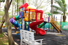 Colorful playground. In the school Royalty Free Stock Images
