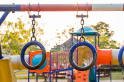 Colorful playground on yard in the park Stock Photography