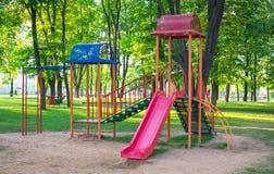 Colorful playground on yard Royalty Free Stock Image