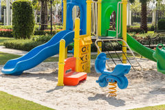 Colorful playgrounds in park Stock Photography