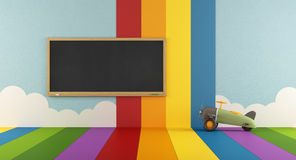 Colorful playroom with blackboard Stock Photography