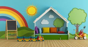 Colorful playroom Royalty Free Stock Photography