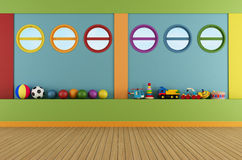 Colorful playroom Stock Images
