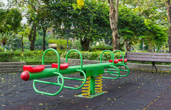 The colorful plaything in Benjasiri Park, Bangkok Royalty Free Stock Images