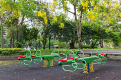 The colorful plaything in Benjasiri Park, Bangkok Stock Photography