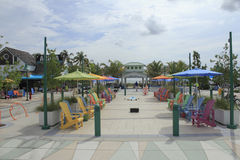 Colorful Plaza in Lauderdale-By-The-Sea Florida Royalty Free Stock Images