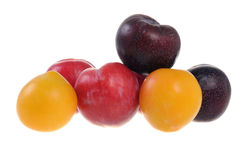 Colorful plums Royalty Free Stock Photos