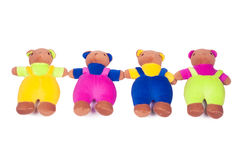 Colorful plush teddy bear. Royalty Free Stock Images