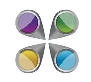 Colorful pointers illustration design Stock Photo