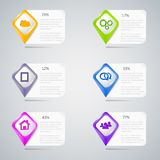 Colorful pointers with infographic elements Stock Photography