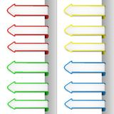 Colorful pointing arrows 2 Stock Images