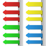 Colorful pointing arrows. Set of colorful pointing arrows for site usage and other needs Stock Image