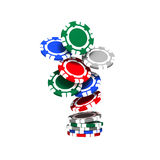 Colorful Poker Chips Stock Photo
