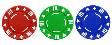 Colorful Poker Chips. Royalty Free Stock Photo