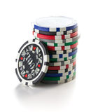 Colorful poker chips Royalty Free Stock Image