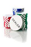 Colorful poker chips Royalty Free Stock Photography