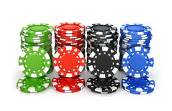 Colorful poker chips, casino, Stock Photography